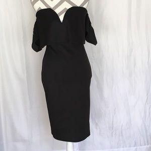 Black off the shoulder /w sleeves dress